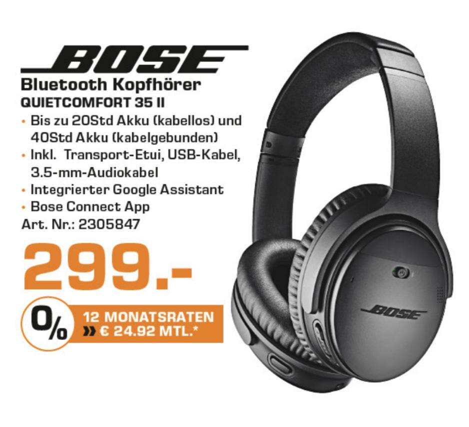 BOSE Quietcomfort 35 II wireless Over-ear ANC Kopfhörer [Lokal Saturn Essen]