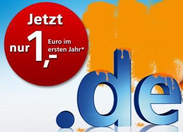 .de Domain für 12 Monate nur 1 EUR @ united-domains