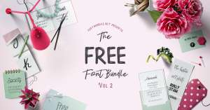 [Freebie] - The Free Font Bundle Vol II kostenloser Download (15 Schriftarten)