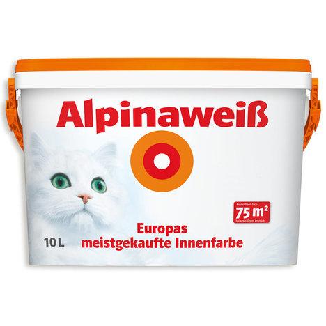Alpinaweiß - weiß matt - Innenfarbe - 10 Liter - Über TPG Hornbach