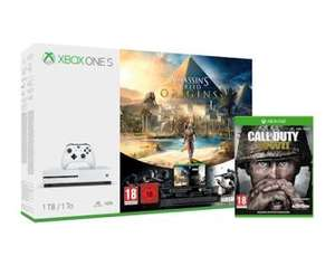 Xbox One S 1TB AC Origins & RB6 & COD WWII für 264,44€ (Graingergames)