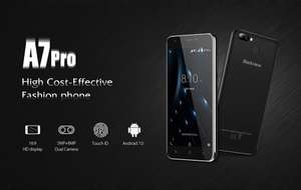 "Blackview A7 Pro: 2GB RAM, 16GB ROM, LTE, Band 20, Android 7, Dual-Sim+Micro-SD, 5"" HD IPS, MTK6737 Quad Core, 2800mAh, Fingerprint"