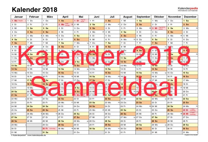 [Sammeldeal] Gratis Kalender 2018 - Hardcopy