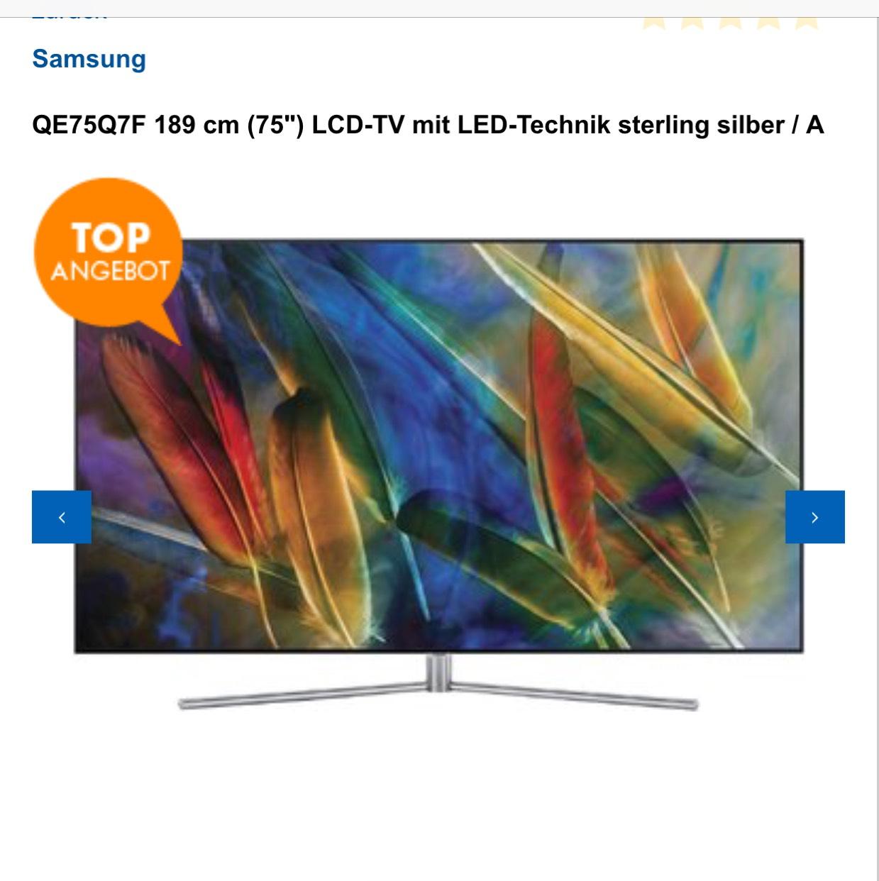 Samsung QE75Q7F 189 Zentimeter (75 Zoll) LCD-TV 4K