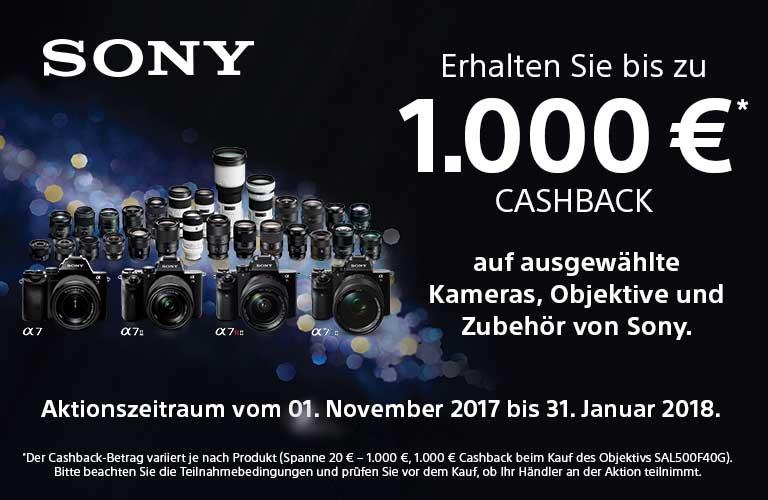 Sony Cashback-Aktion