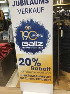 Baltz & Intersport Baltz 20% auf alles (lokal Bochum)