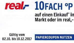 10-Fach Payback Punkte bei Real Papiercoupon 02.10. - 10.12.17