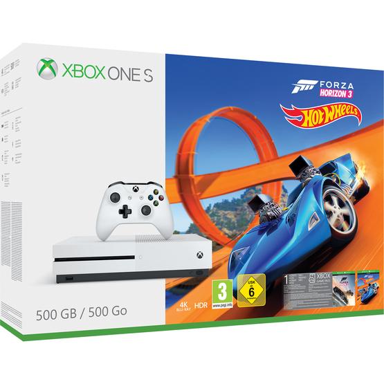 Xbox One s 500GB FH3 Hot Wheels Bundle + Dishonored 2 + Doom + Fallout 4 + Fifa 18 (oder CoD WW II oder Destiny 2) + Wolfenstein II (oder The Evil Within II) (+Forza 7 für £9.85) - Auch andere Bundles möglich [shopto.net]