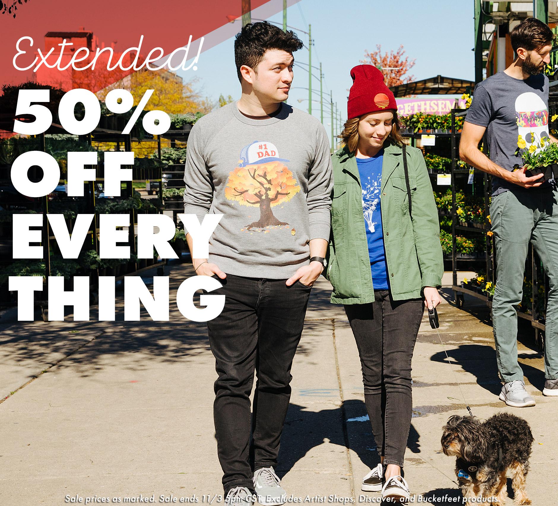 50% auf alles bei Threadless