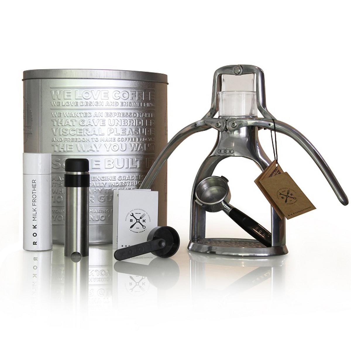 *Pricedrop* ROK - Espressomaschine mit Edelstahl-Milchschäumer und Metalldose // Update