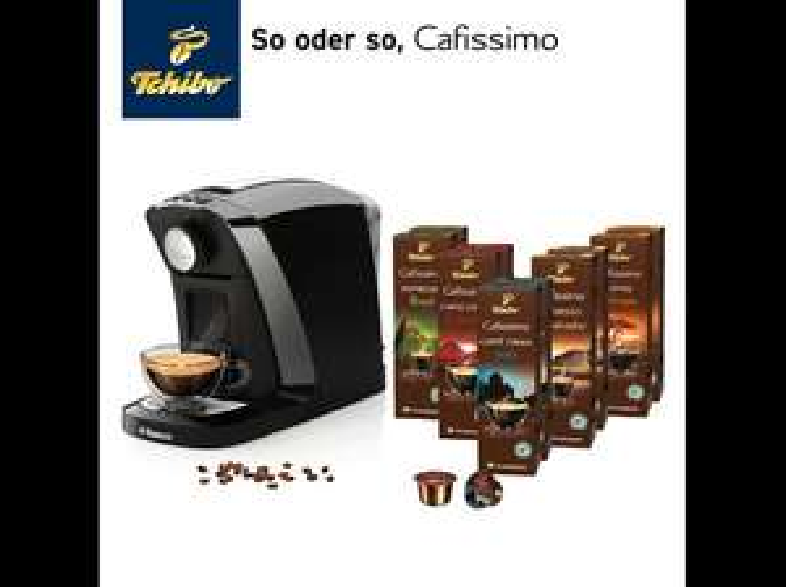 TCHIBO CAFISSIMO Tuttocaffè Nero inkl. 100 Kapseln Kapselmaschine Schwarz