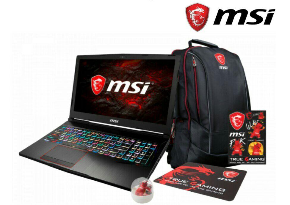 """""""++BUNDLE++ MSI Notebook GE63 7RD-005 Raider inkl. Garantieerweiterung auf 3 Jahre + MSI Rucksack m."""""""