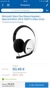 Xbox One Stereo Headset Special Edtion in weiß