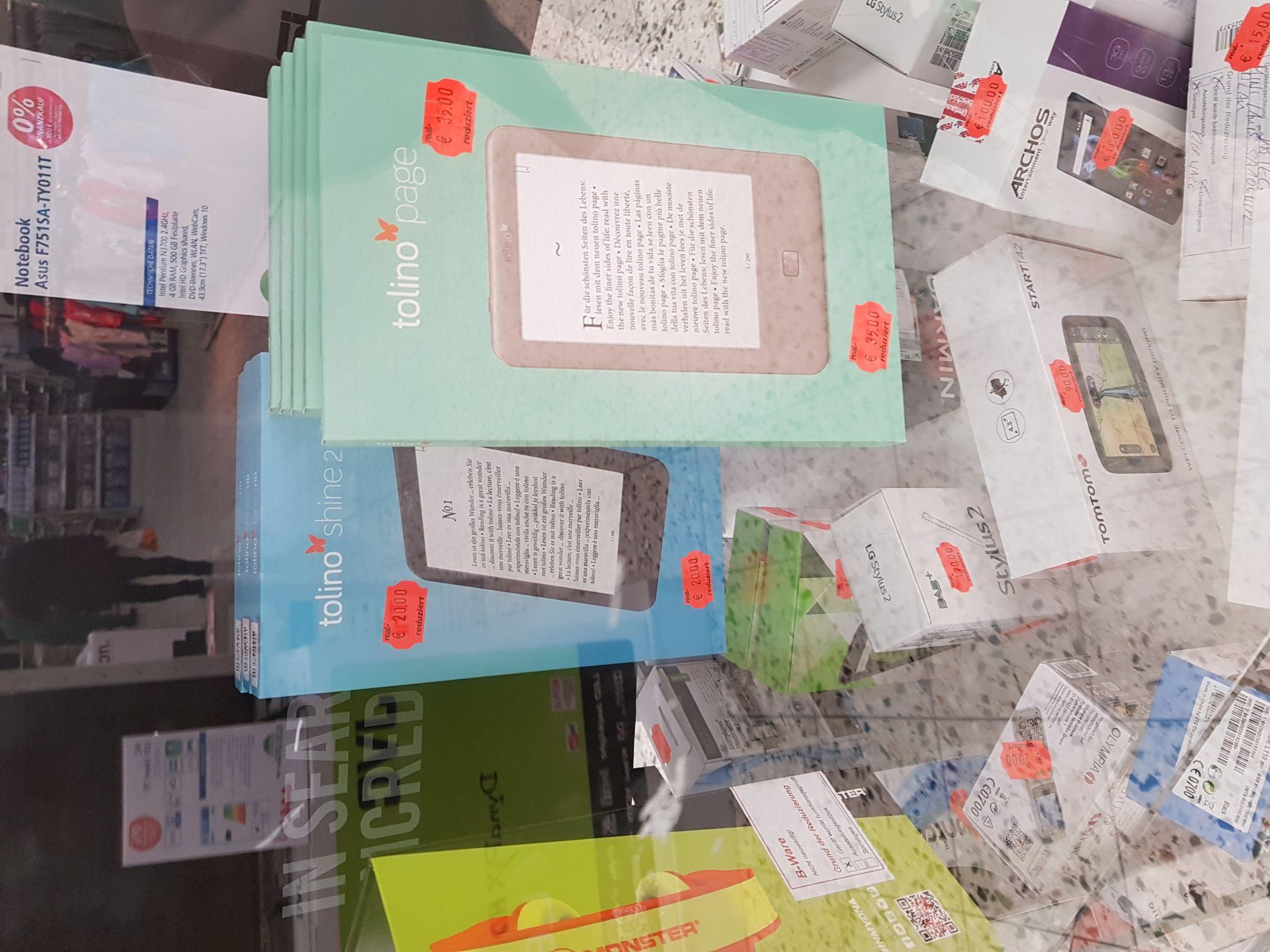 Lokal Real Siegen E-Book Reader Tolino Shine 2HD und Tolino Page