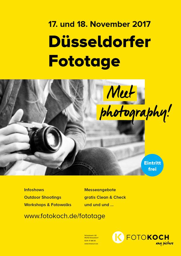 Düsseldorfer Fototage am 17. und 18. November bei Foto Koch