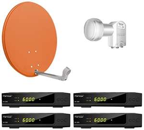 [Amazon.de] Opticum Digitale 4 Teilnehmer Satelliten-Komplettanlage HD AX 300 HDTV-Receiver (Quad-LNB, X60 cm Antenne)