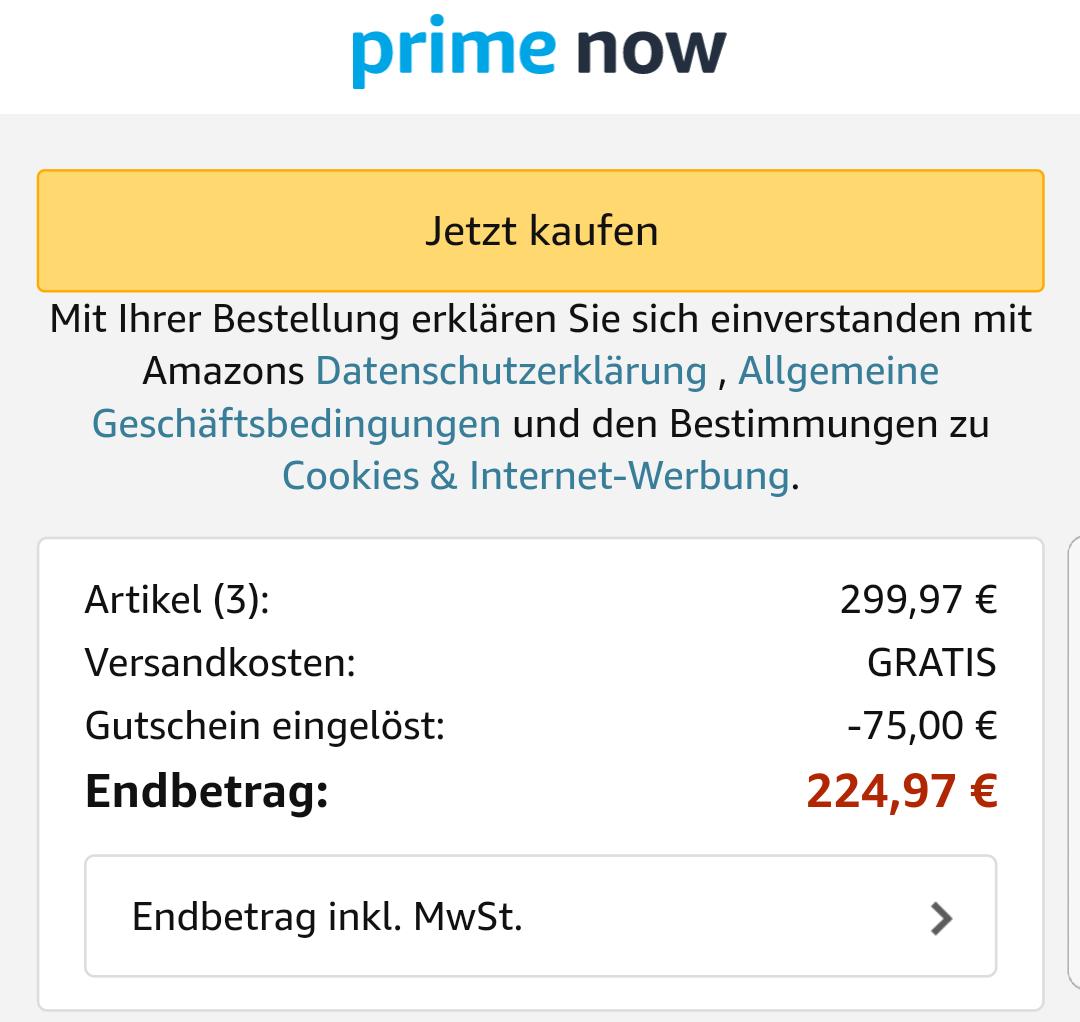 [Amazon Prime Now] [Lokal Berlin und München] Amazon Echo, neue Generation für effektiv 74,99 (75€ Rabatt bei Kauf von 3 Echo)