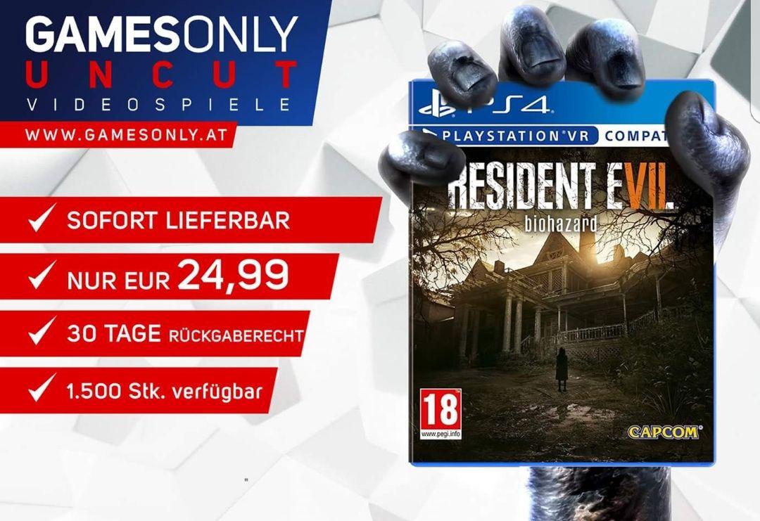 Resident Evil 7 Ps4 Deal 24,99 Euro