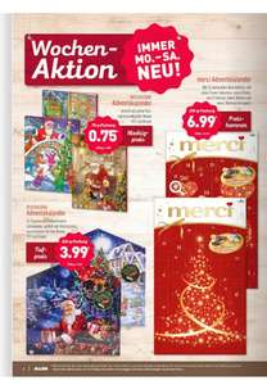(Aldi Nord) ab 6.11. MERCI Adventskalender für nur 6,99€