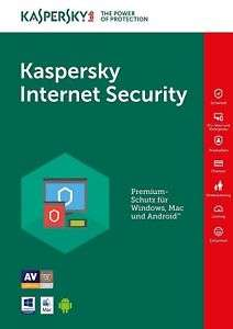 (Ebay WOW) Kaspersky Internet Security 2018 1Gerät 1Jahr Vollversion Lizenz Key Download (Windows 10/8/7/Vista/XP, Mac, Android​)