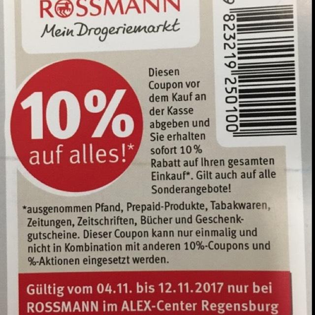 NEUER 10%  Coupon Bei Rossmann Regional ?!