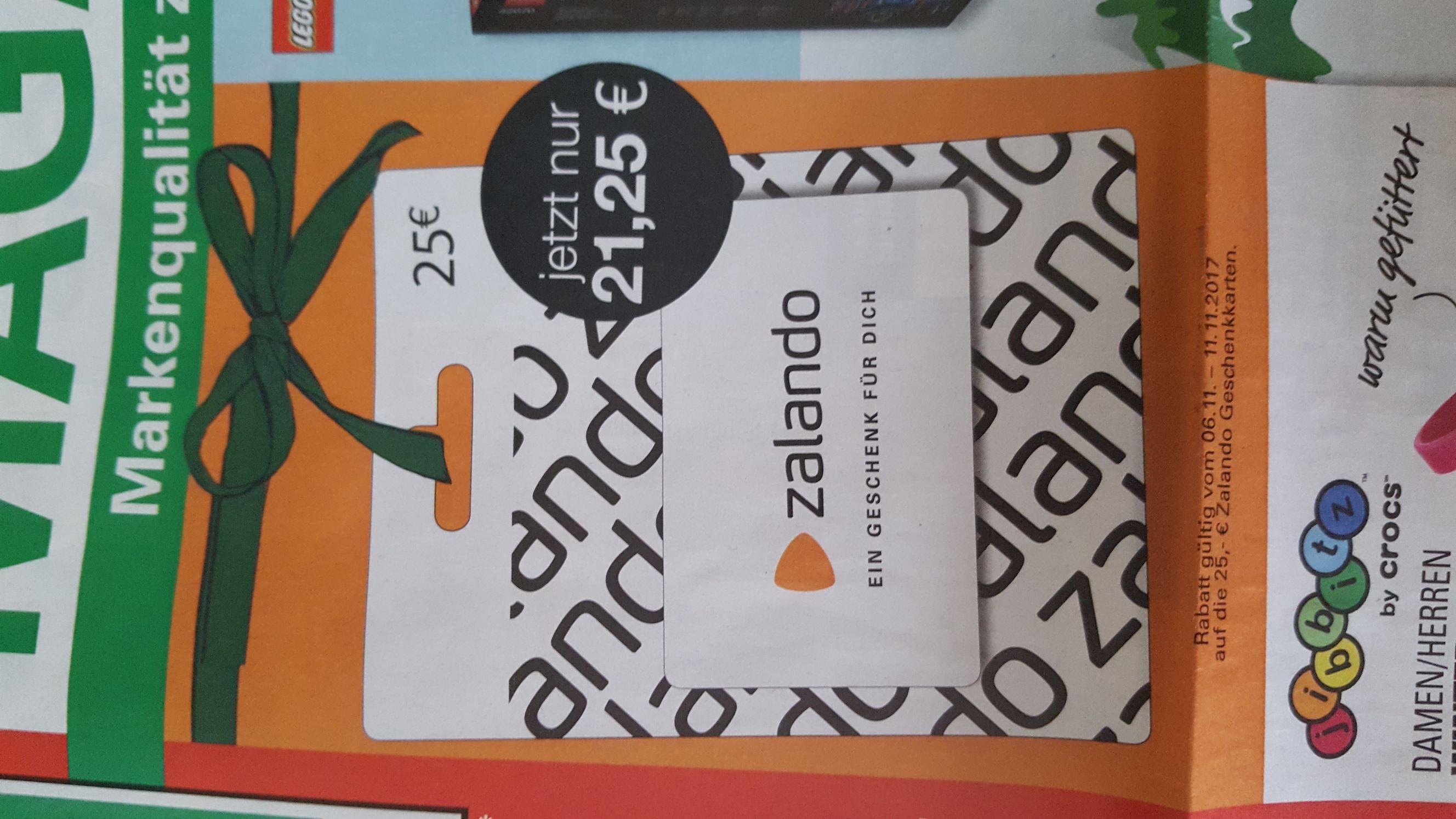 Zalando Geschenkkarte 15% reduziert bei Marktkauf