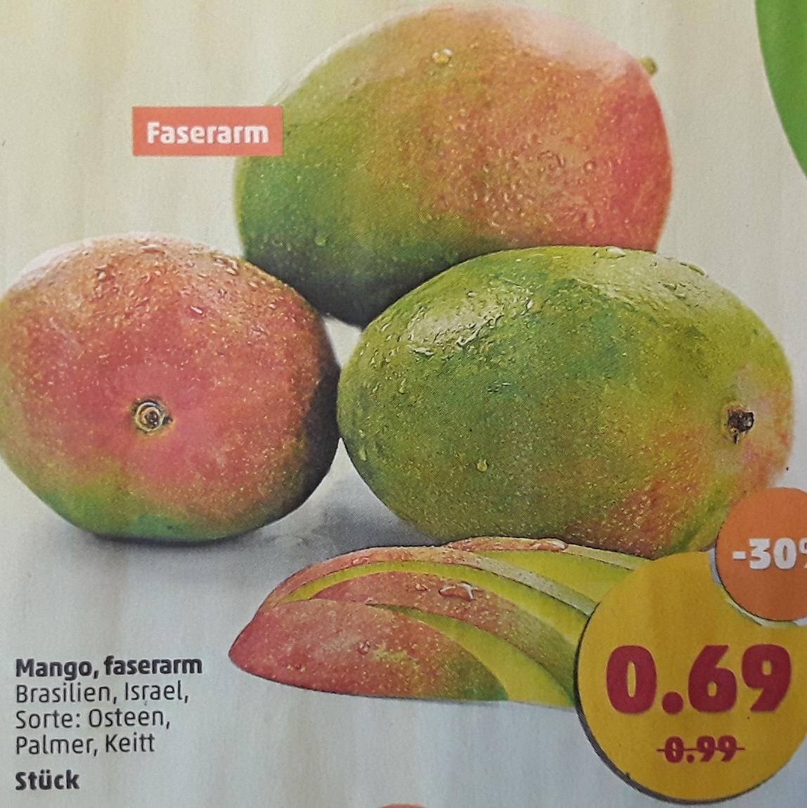 Faserarme Mango für 0,69€ das Stück und zus. Gutscheinaktion für Obst und Gemüse @ Penny (6.11. - 11.11.2017)