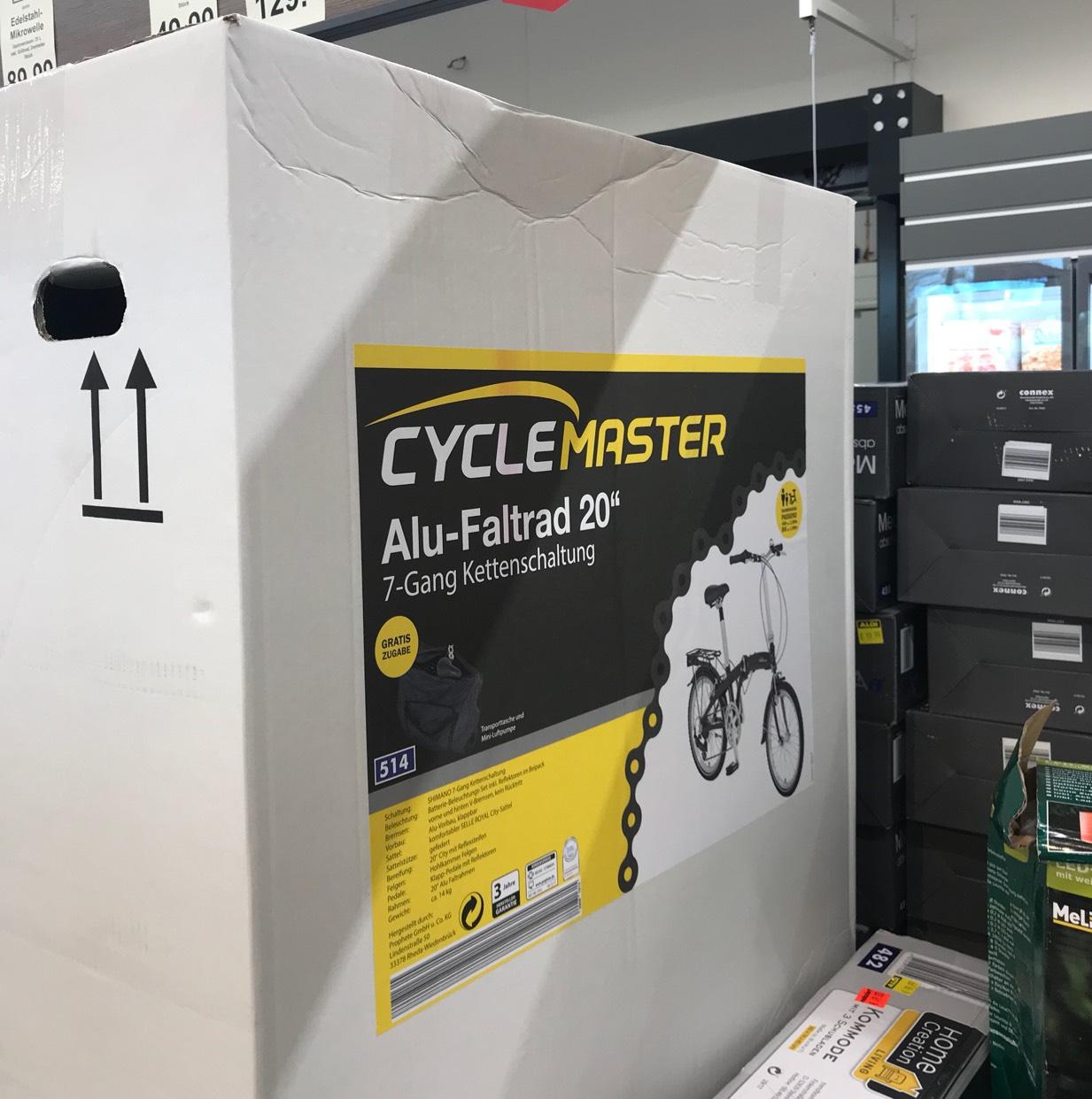 Lokal: CAS Aldi Nord Faltrad für 169€ viele vorhanden