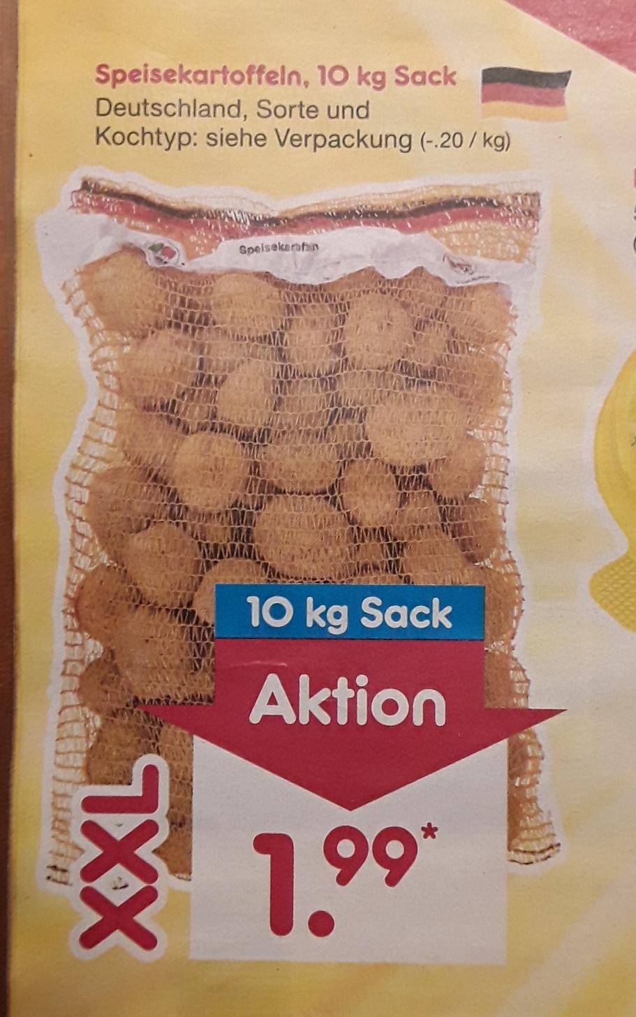 10 kg Sack deutsche Kartoffeln für 1,99 € (0,20€/kg) @ Netto MD am 11.11.2017 bzw. 25.11.17