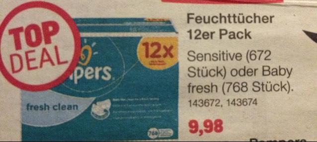 Pampers 12er Pack Feuchtücher für 8,48€ bei Toys R us 6.11-12.11.17