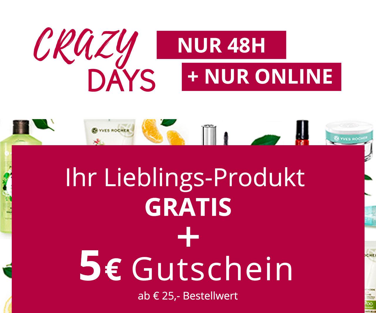 [Yves Rocher] Erstes Produkt im Warenkorb gratis + vsk-frei ab MBW 20€ + GS 5€ ab MBW 25€