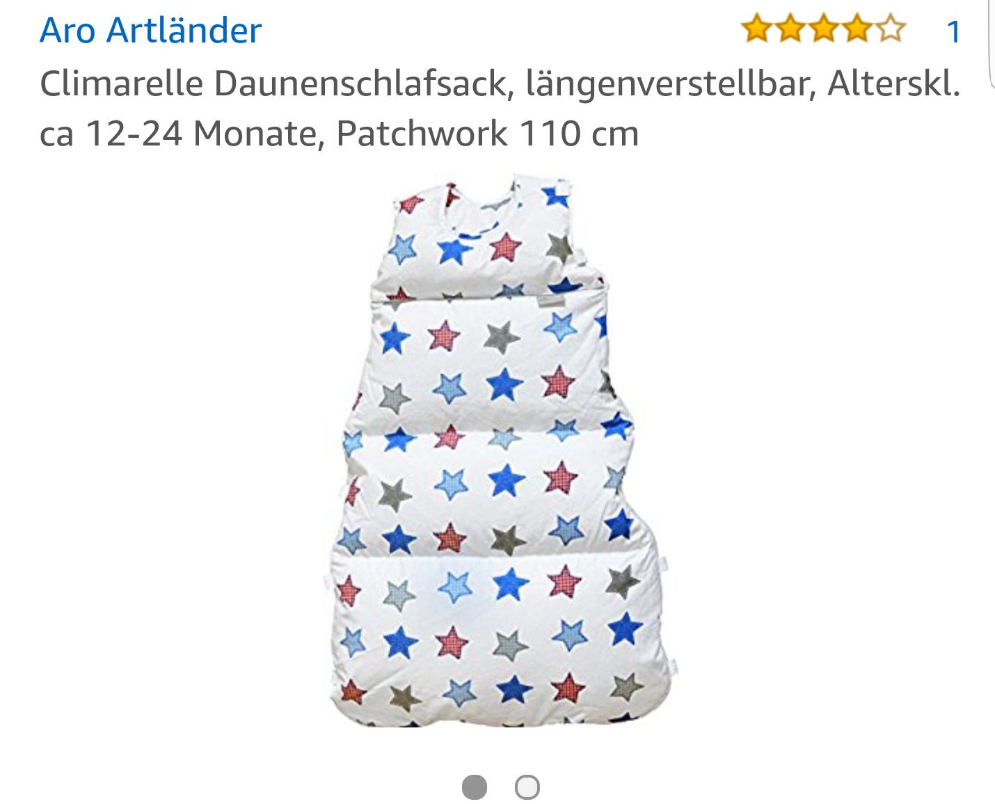 Daunen Babyschlafsack Größe 110