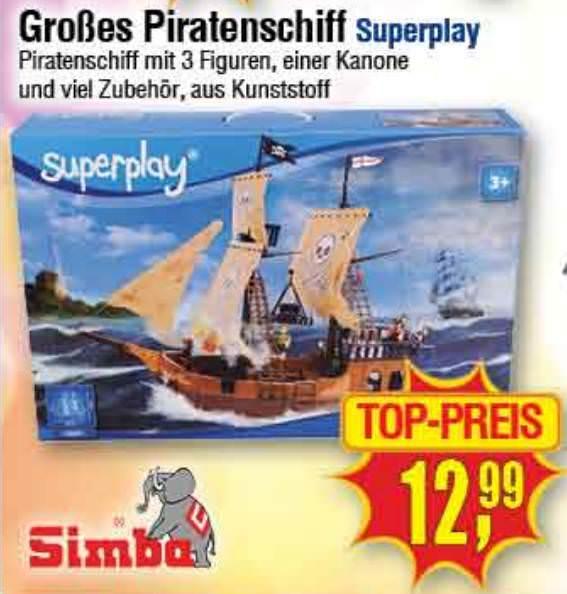 [Centershop Filialen] SIMBA Superplay Piratenschiff 4355405 für 12,99€ (13.-19.11.2017)