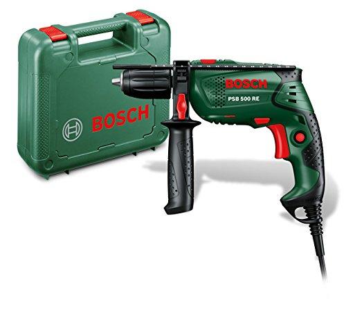Bosch Schlagbohrmaschine PSB 500 RE (Tiefenanschlag, Zusatzhandgriff, Koffer, 500 Watt) für 38,99€ [Amazon]