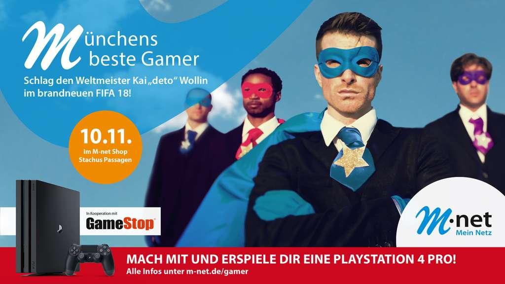 [lokal München] GameStop Gutschein und eine Powerbank kostenlos erhalten + Chance auf eine PS4 Pro wenn man ein Fifa18 Spiel gewinnt
