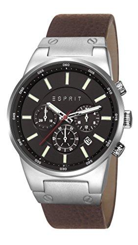 ESPRIT Herren-Armbanduhr Equalizer Chronograph Quarz Leder ES107961004 - Minus 59%