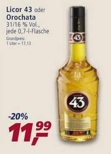 Netto Markendiscount / real,-: Licor 43 (0,7L) für 11,99 Euro.