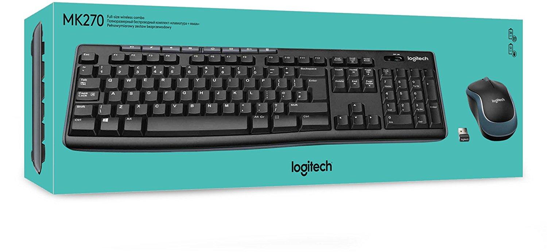 Logitech MK270 QWERTZ Tastatur + Maus + Nano Empfänger (gebraucht; Zustand: sehr gut) für 16,95 Euro