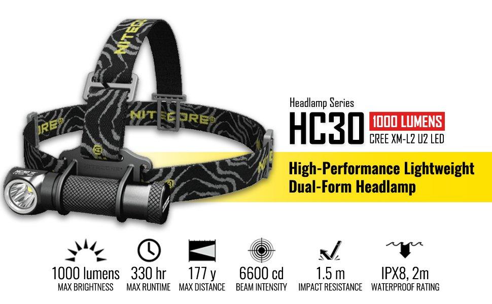 [Gearbest] Nitecore HC30 Stirnlampe (1000LM)