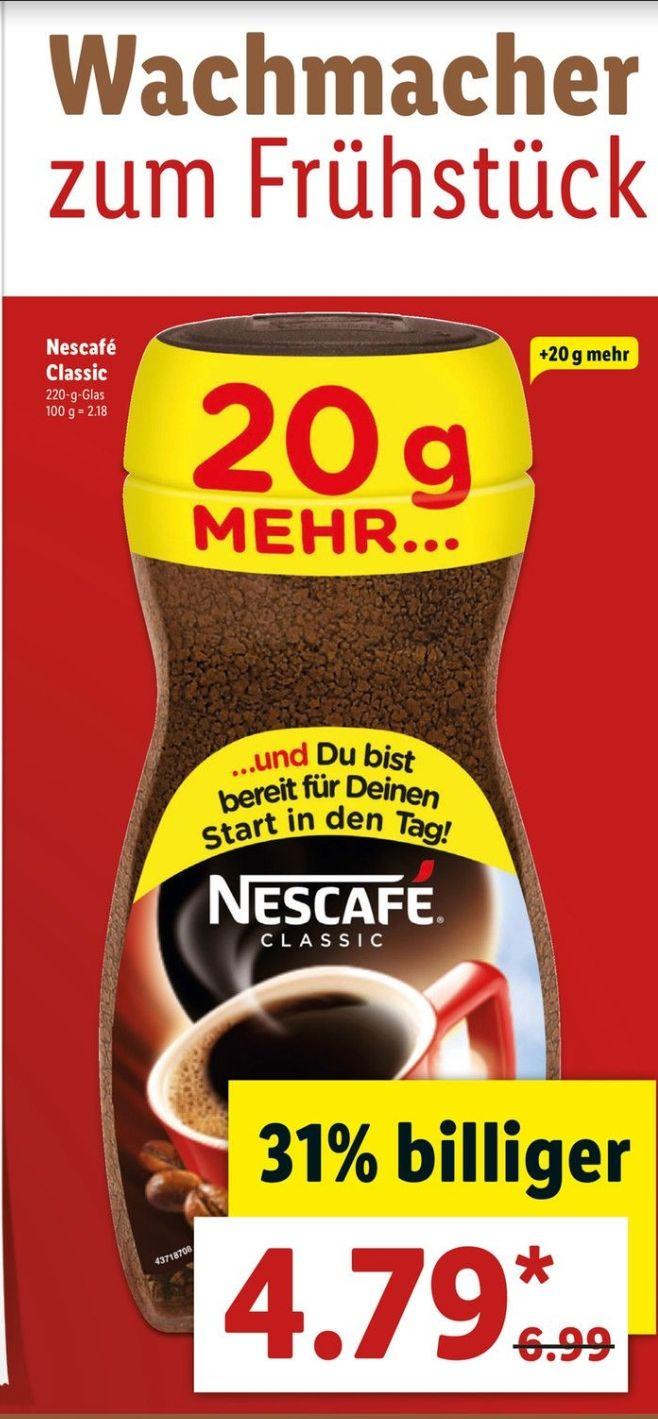 [Lidl] Bundesweit Nescafe Classic 220g