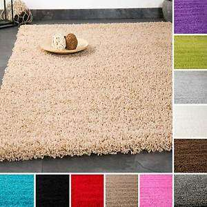 Hochflor Shaggy Teppich Unifarben 40 x 60 cm - ebay