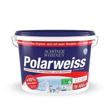 """[Hellweg] SCHÖNER WOHNEN FARBE Wand- und Deckenfarbe """"Polarweiss"""", matt, 11 L"""