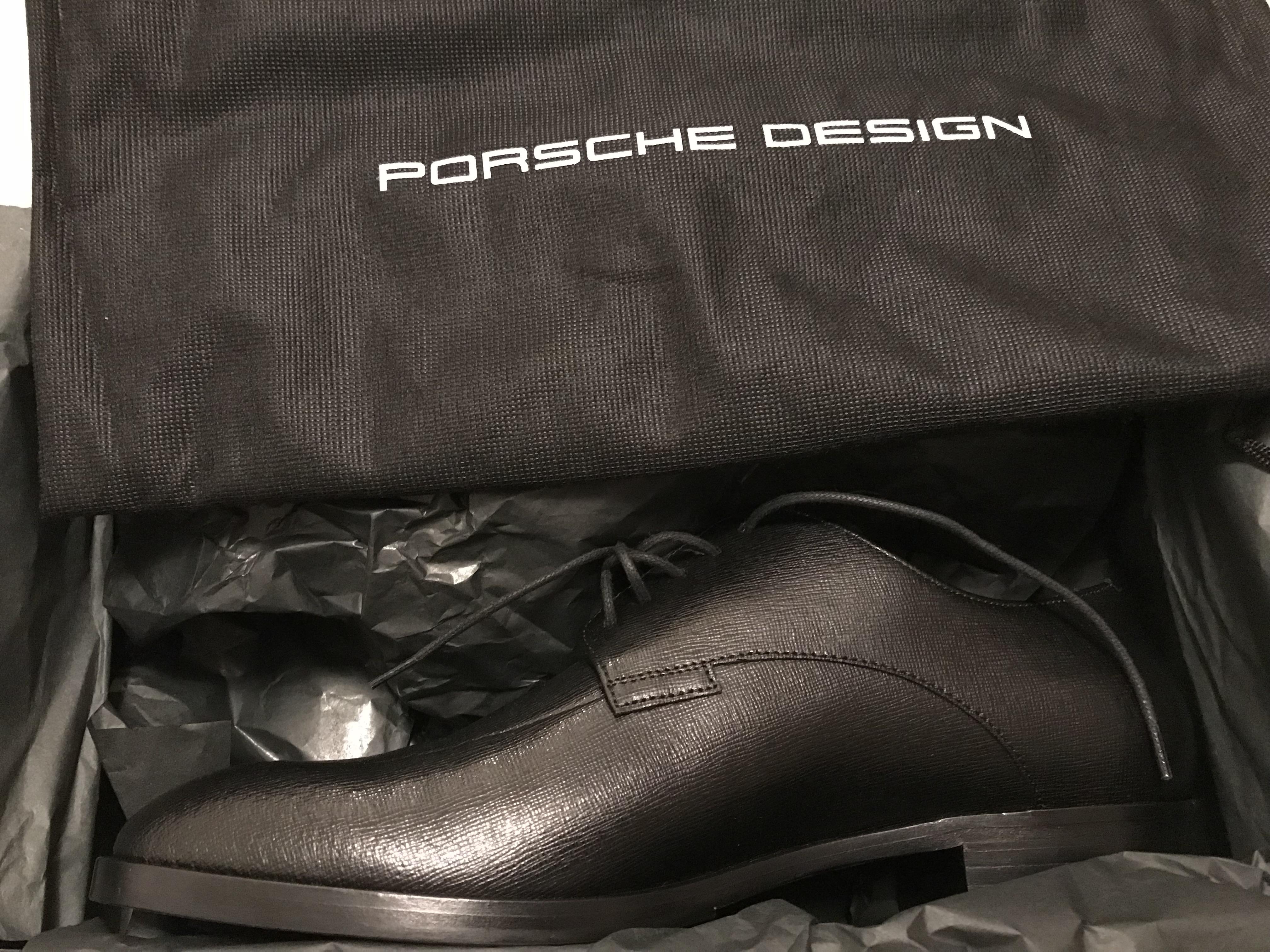 [Lokal TK Maxx Hannover]  Halbschue Porsche Design Las Vegas Lace Up Saffiano Black