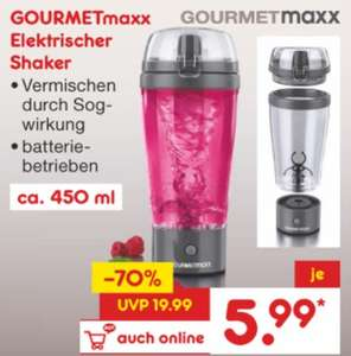 [Netto MD] Gourmetmaxx 3V Elektro-Shaker mit 450ml für 5,99€ (auch Online zzgl. Versand)
