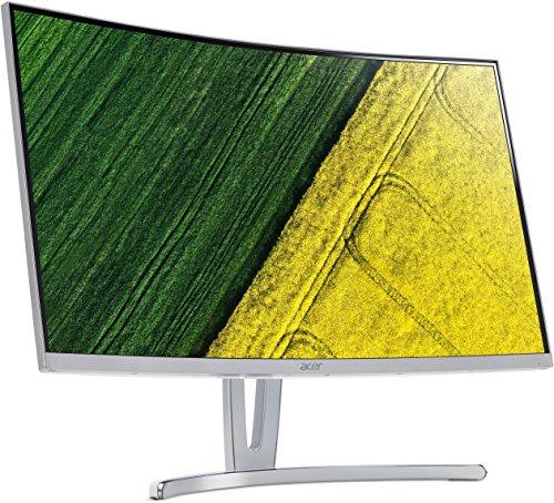 Acer ED273 69 cm (27 Zoll Full HD) Curved Monitor (VGA, DVI, HDMI, 4 ms Reaktionszeit, Full HD Auflösung) silber
