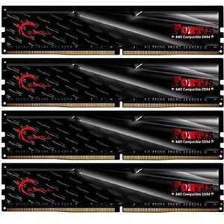 Mindfactory 64GB G.Skill Fortis schwarz DDR4-2400 DIMM CL15 Quad Kit 399,00€ + Versand