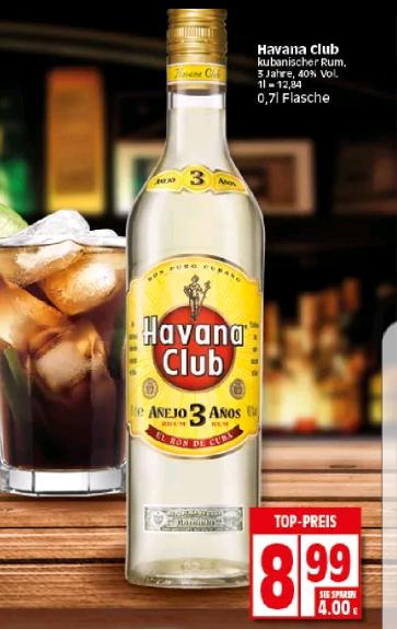 [Elli NRW/Hessen] Havanna Club 3 Jahre für 8,99