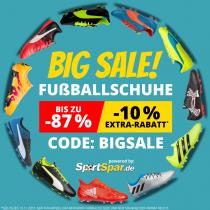 Fußballschuhe-Sale mit bis zu 87% Rabatt + 10% Extrarabatt bei SportSpar