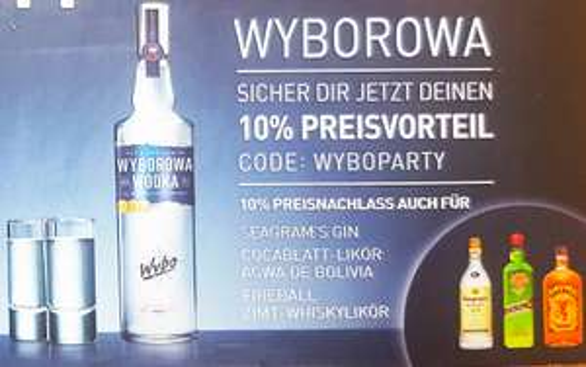 Bolou Rabattcode für WYBO SEAGRAMS FIREBALL AGWA ...