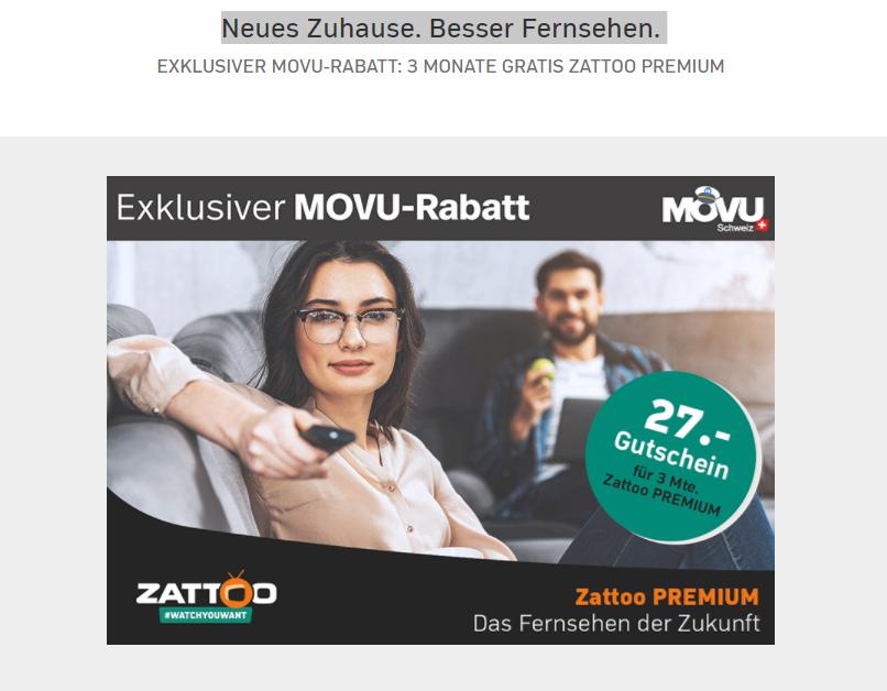 Zattoo Premium Schweiz: 3 bzw. 4 Monate kostenlos (Auch für Bestandskunden)
